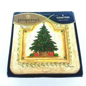 Set of 6 Pimpernel Coasters Christmas